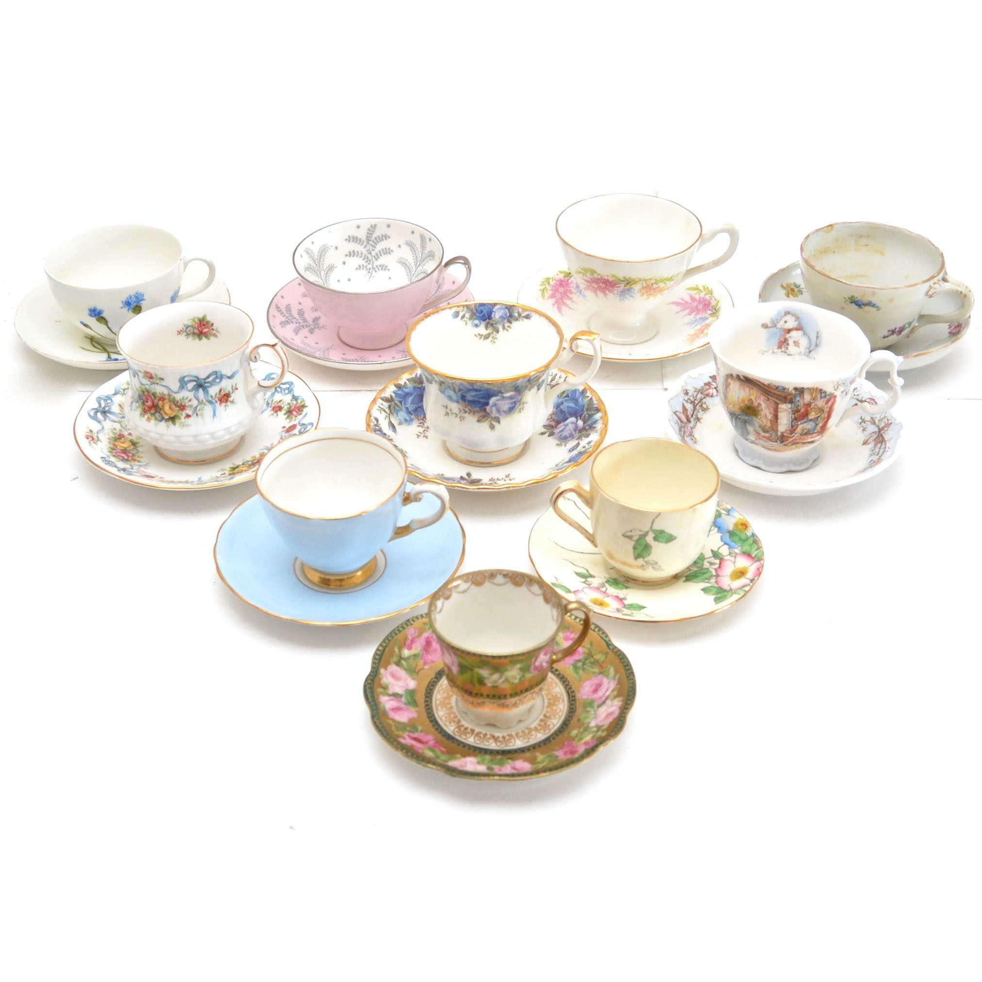 Vintage Teacup and Saucer Collection
