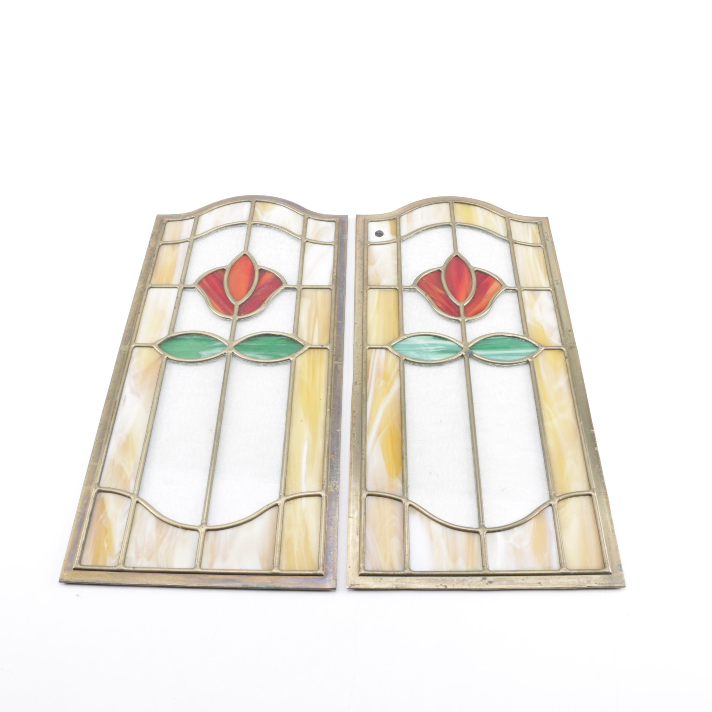 Traditional Framed Stained Glass Panels