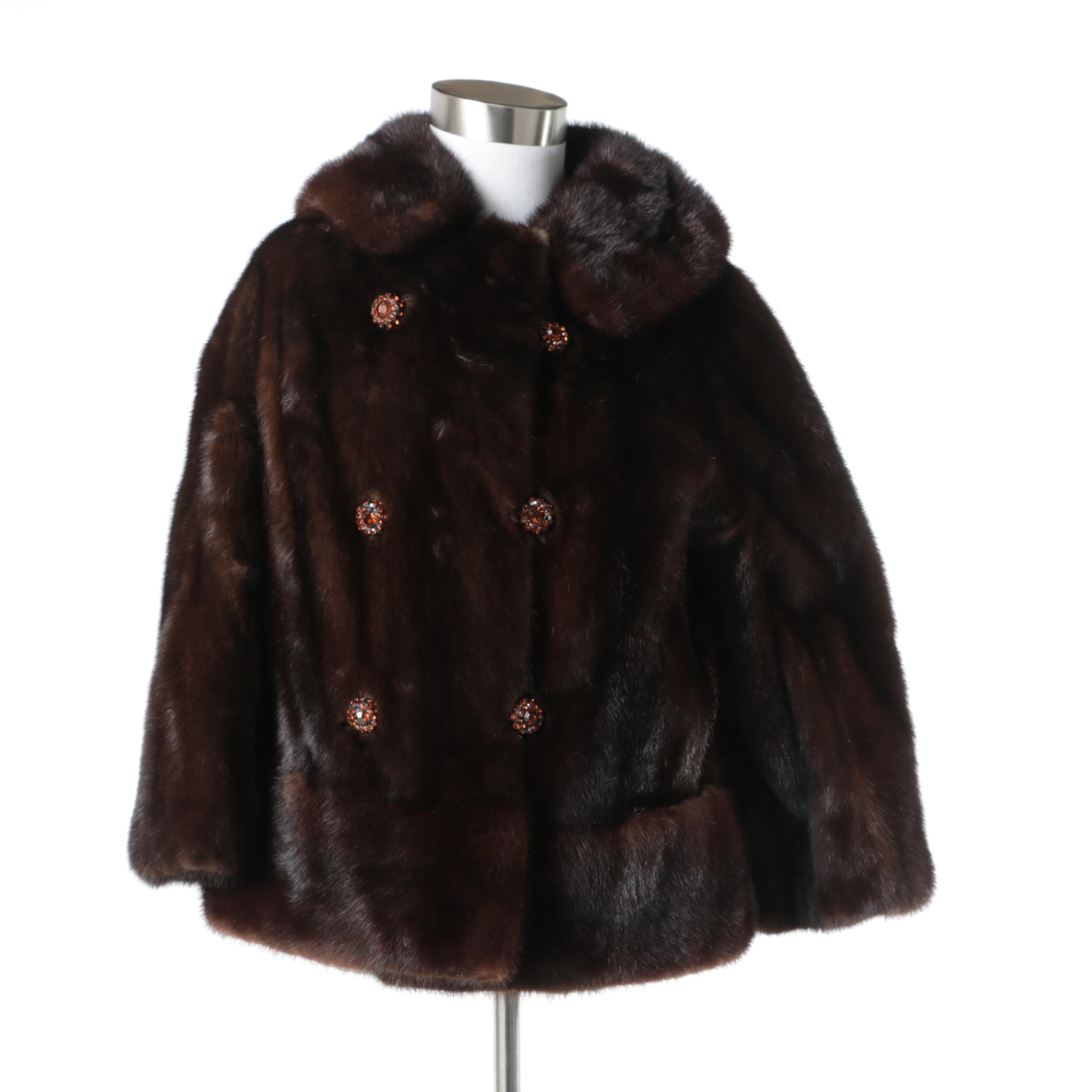 Women's Vintage Chocolate Mink Fur Coat