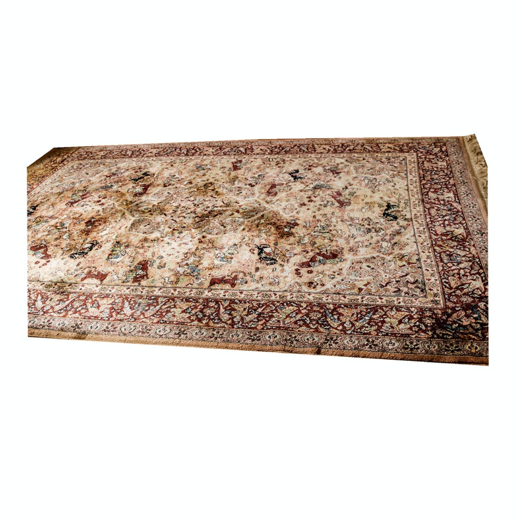 "Power-Loomed Karastan Wool ""Persian Hunting Rug"""