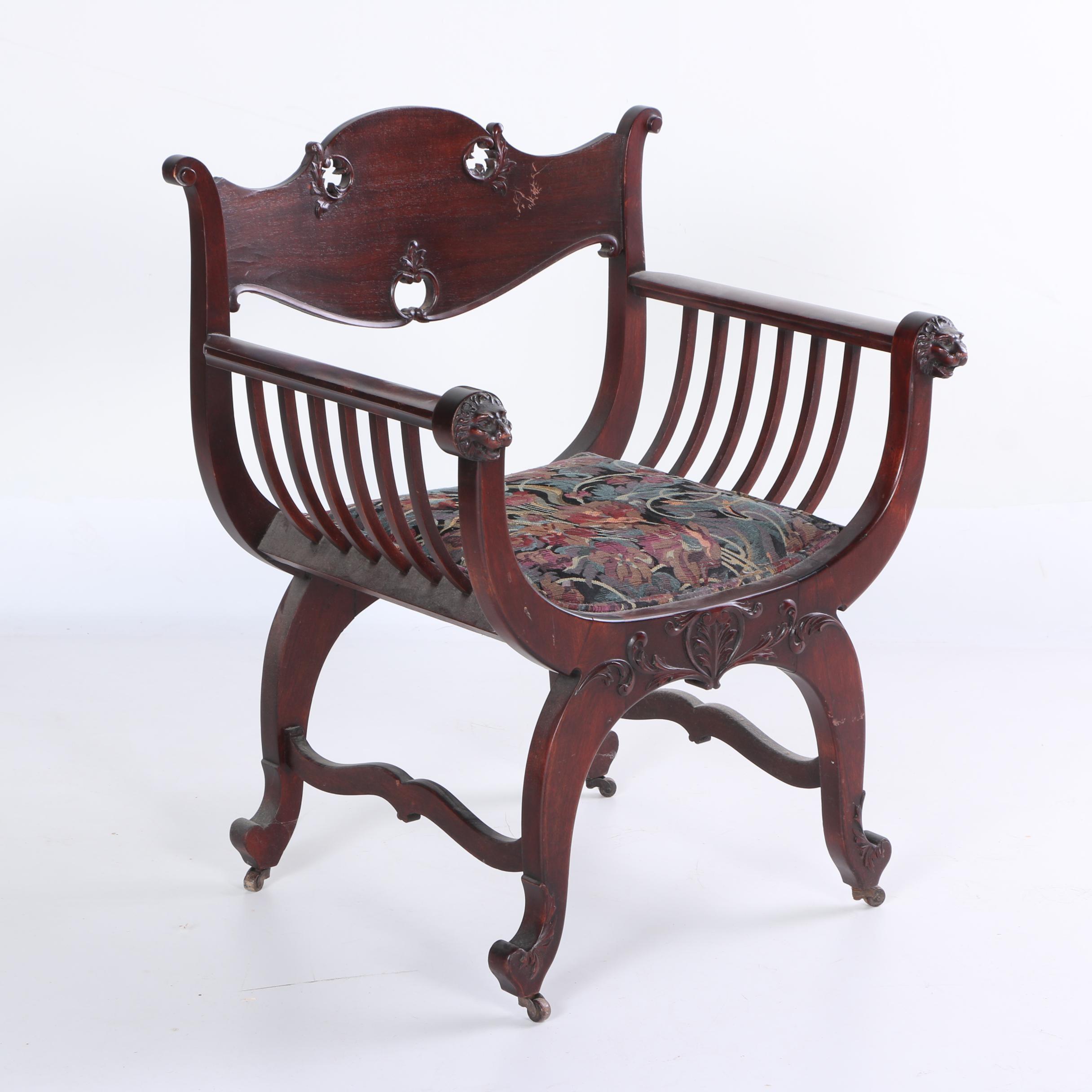 Regency Style Curule Chair