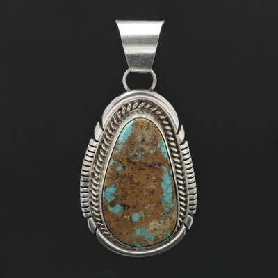 Vintage designer pendants online vintage pendant auction in alfred martinez navajo sterling silver turquoise pendant aloadofball Choice Image