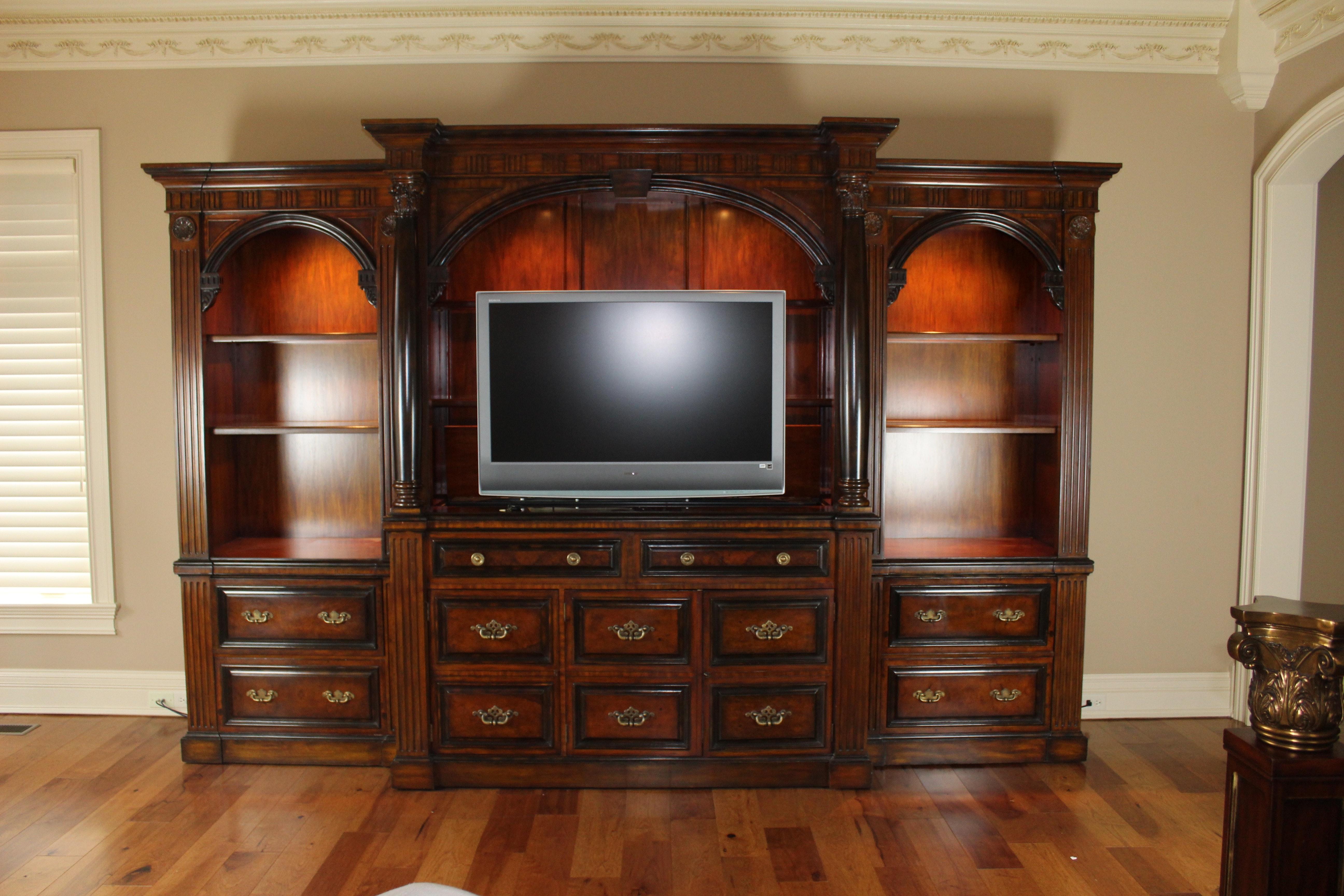 Maitland Smith Six Piece Media Cabinet With Retractable Tv Shelf Ebth