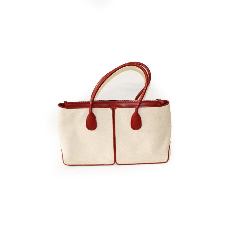Tod's Canvas and Leather Handbag