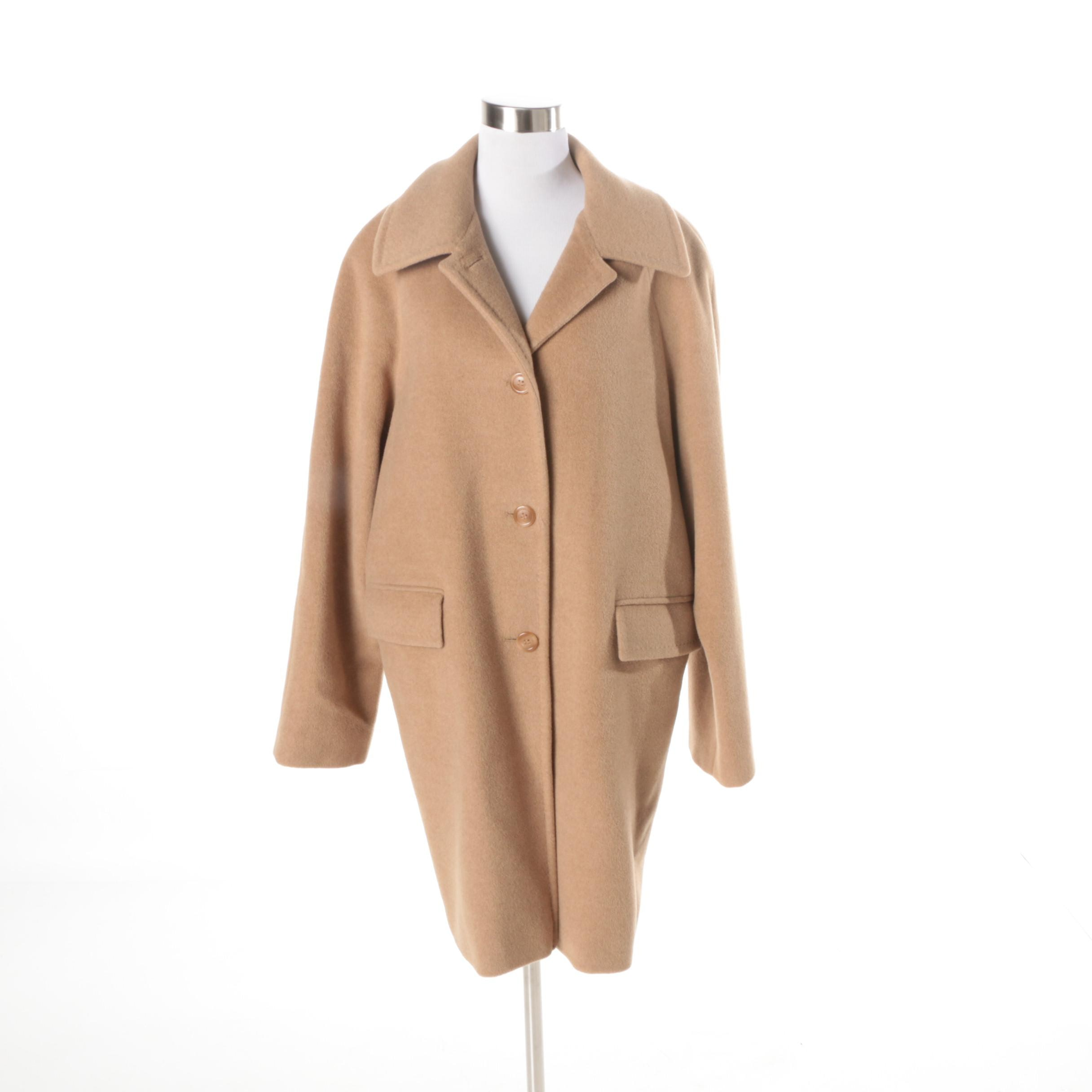 Women's Larry Levine Camel Hair Coat
