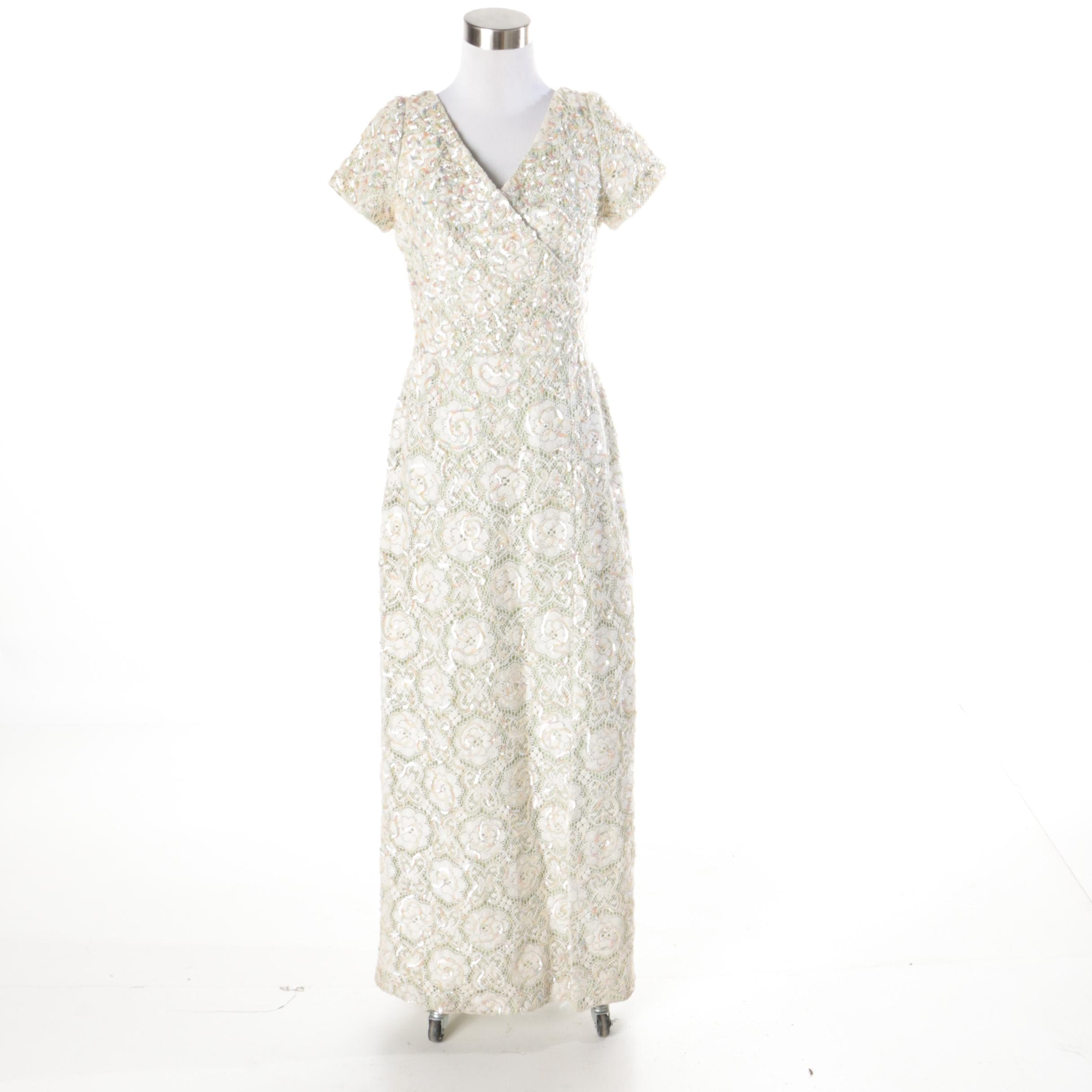 1960s Vintage Emma Domb Evening Dress