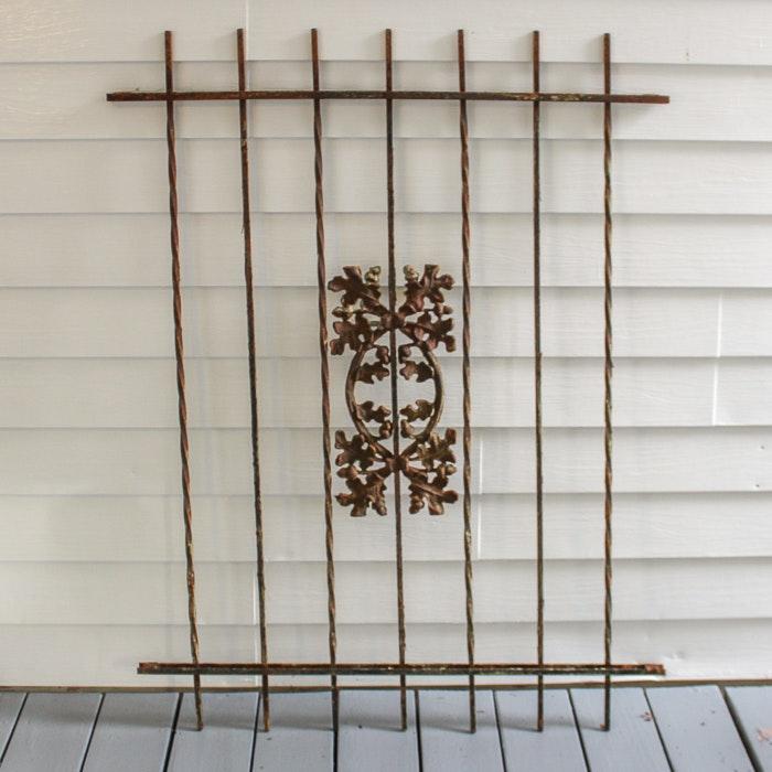 Decorative Iron Fence Section
