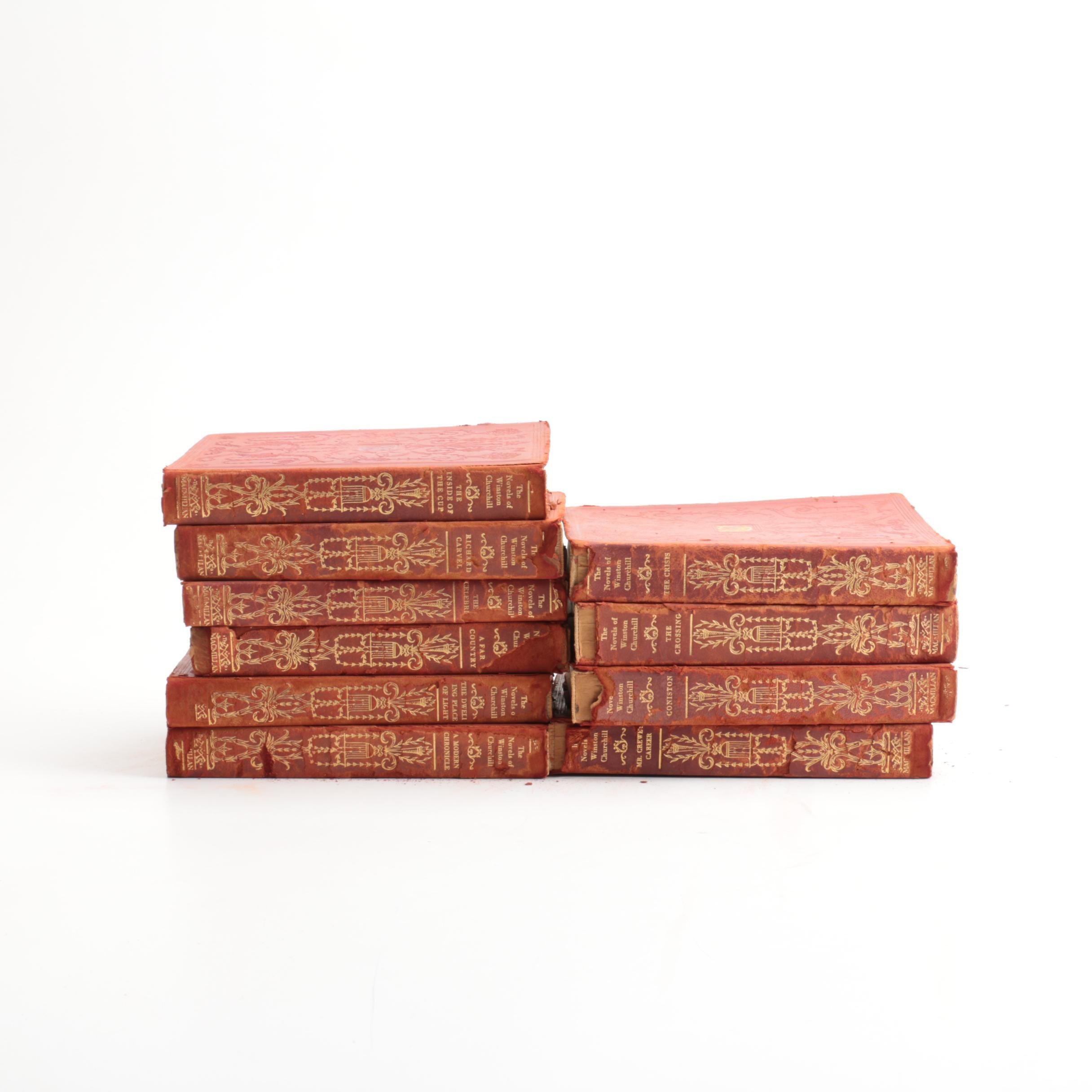 "1927 Ten Volumes ""The Novels of Winston Churchill"""