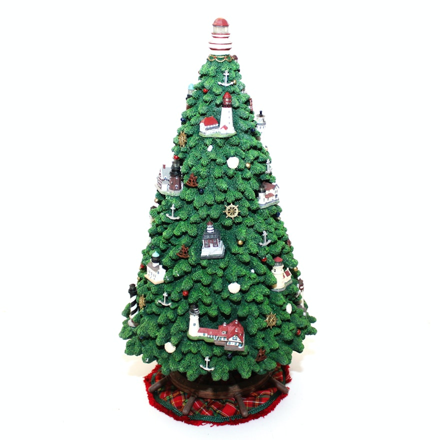 Neiman Marcus Pink Home Decor Ebth: Danbury Mint Illuminated Lighthouse Christmas Tree