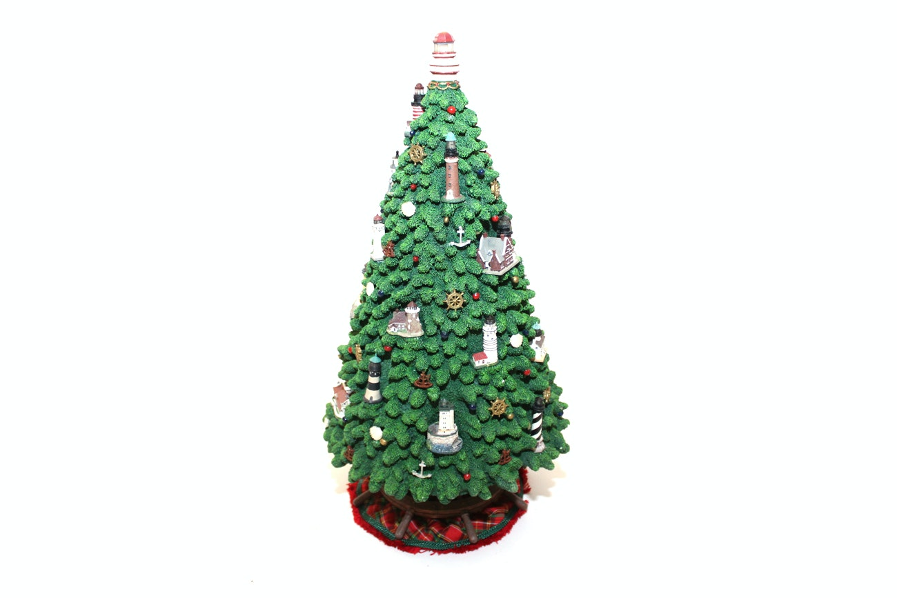 Danbury Mint Illuminated Lighthouse Christmas Tree | EBTH