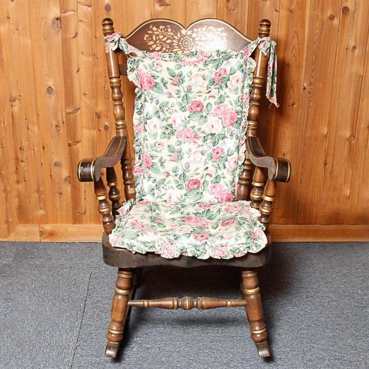 Windsor Style Oak Rocking Chair