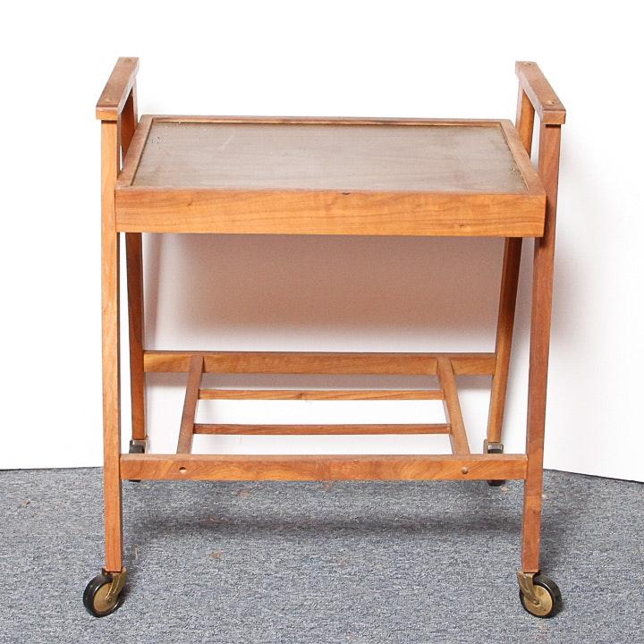 Mid Century Modern Style Teak Bar Cart
