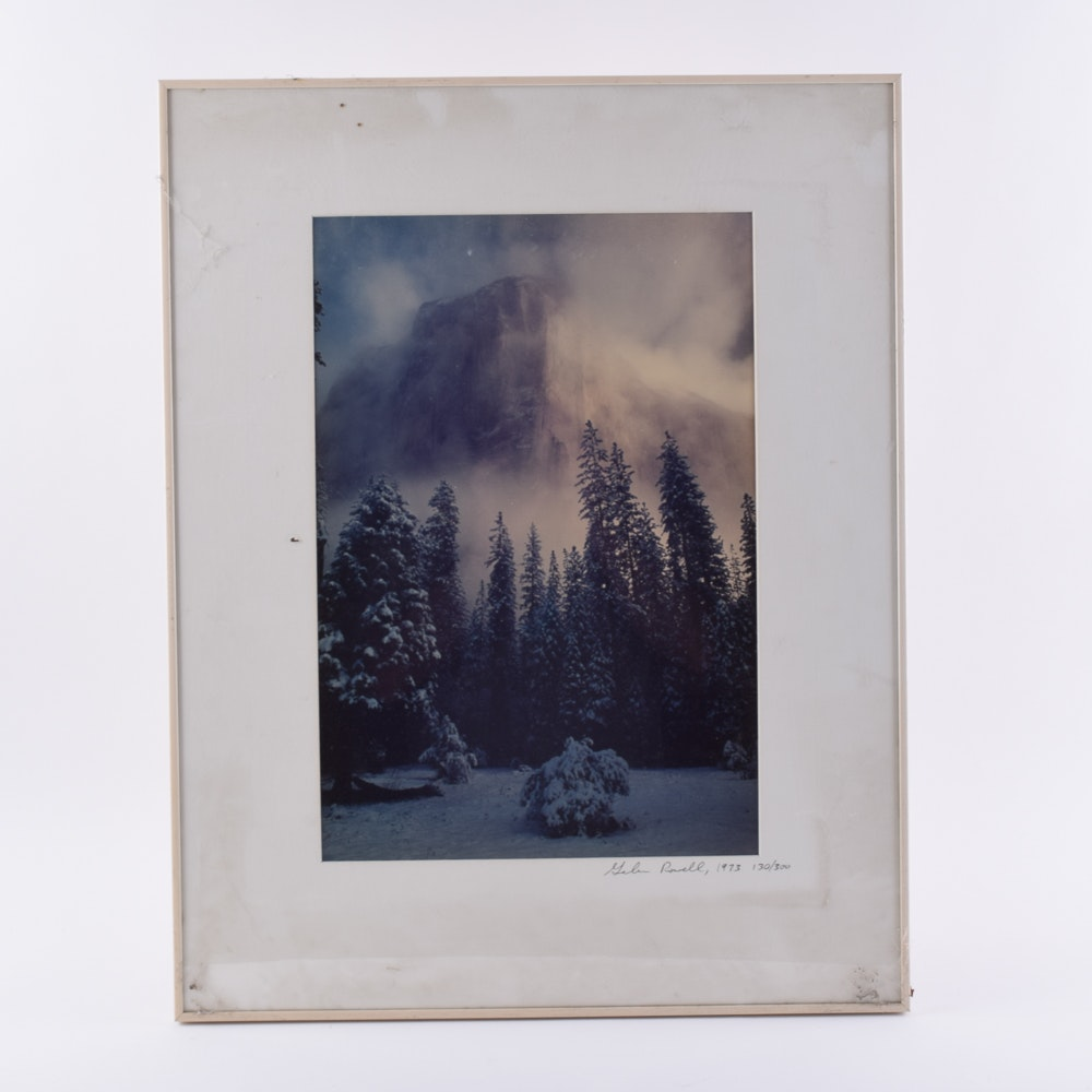 """Galen Rowell Limited Edition Offset Lithograph """"Clearing Storm, El Capitan"""""""