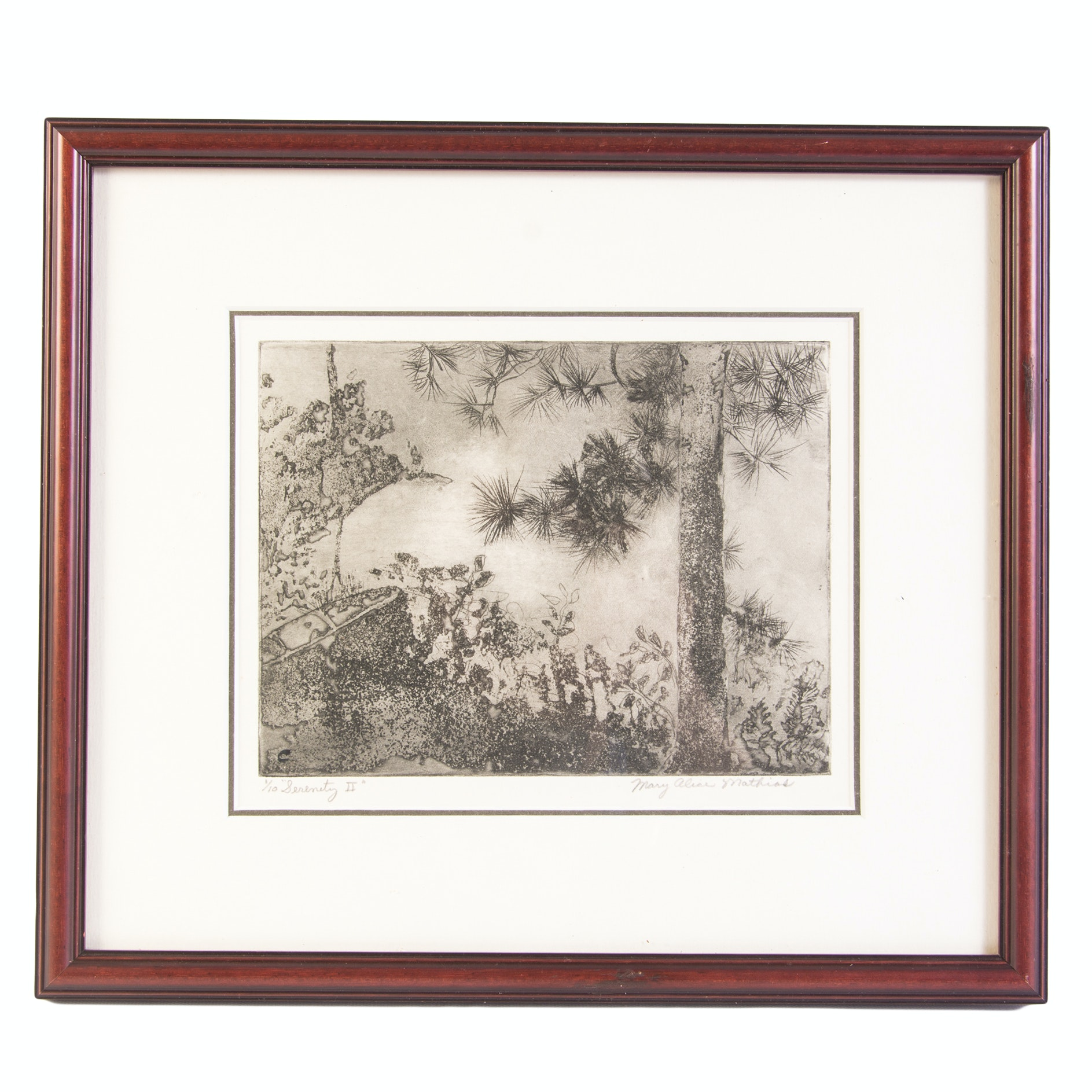 """Mary Alice Mathias Limited Edition Etching """"Serenity 2"""""""