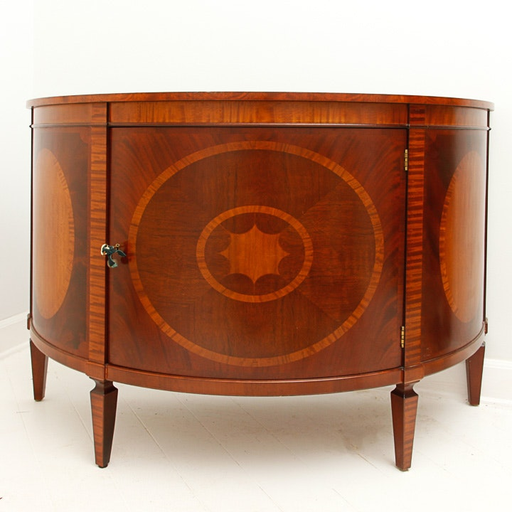 Demilune Inlaid Console by Baker Furniture