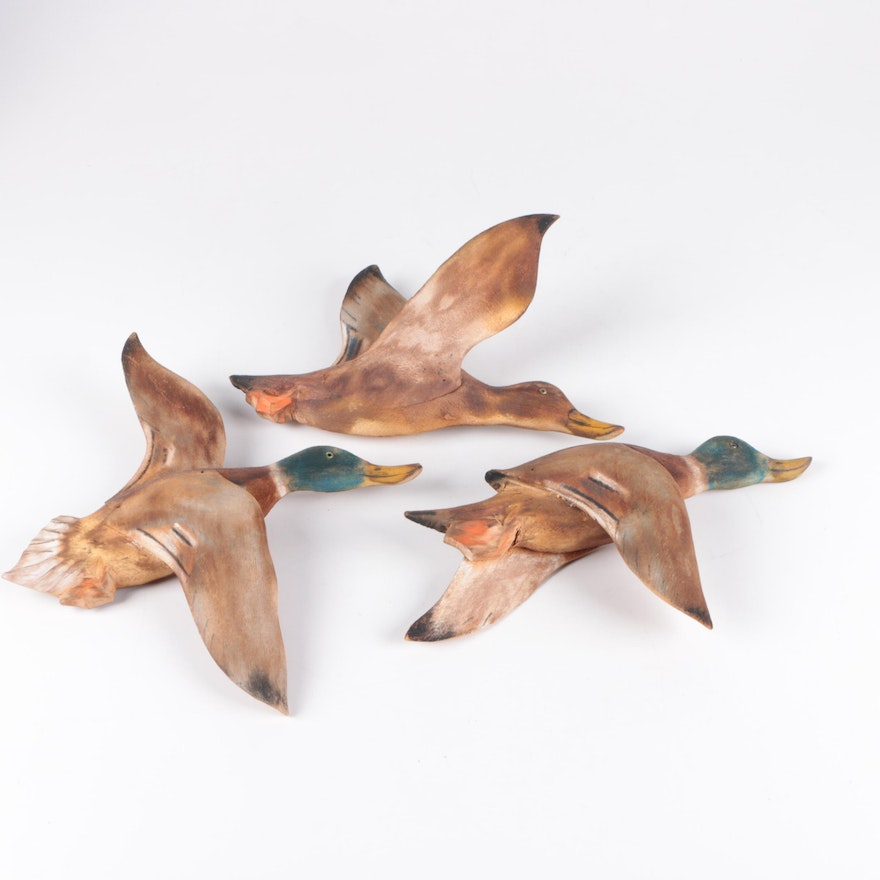 Wooden Duck Wall Decor Pieces