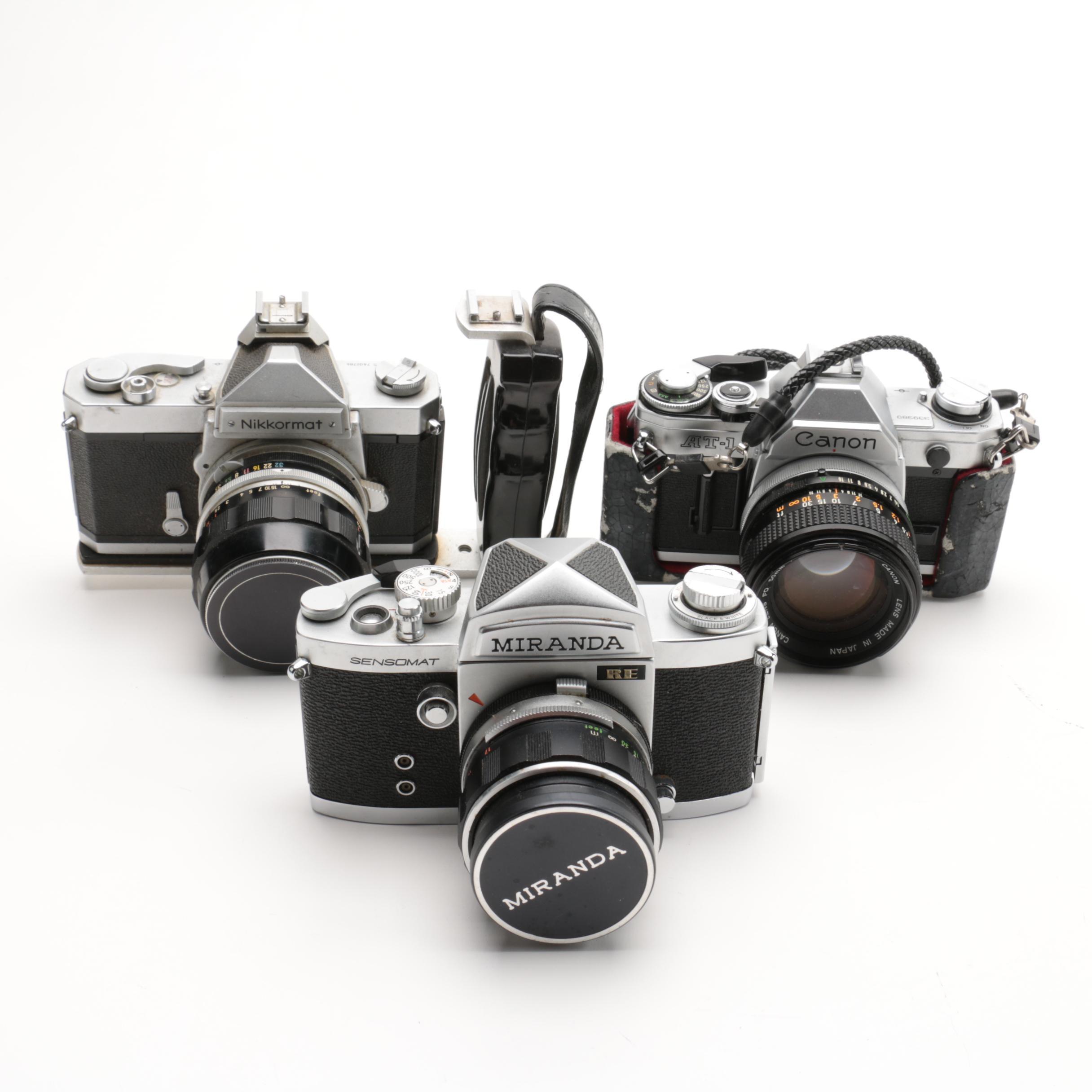 Nikkormat, Canon and Miranda Cameras
