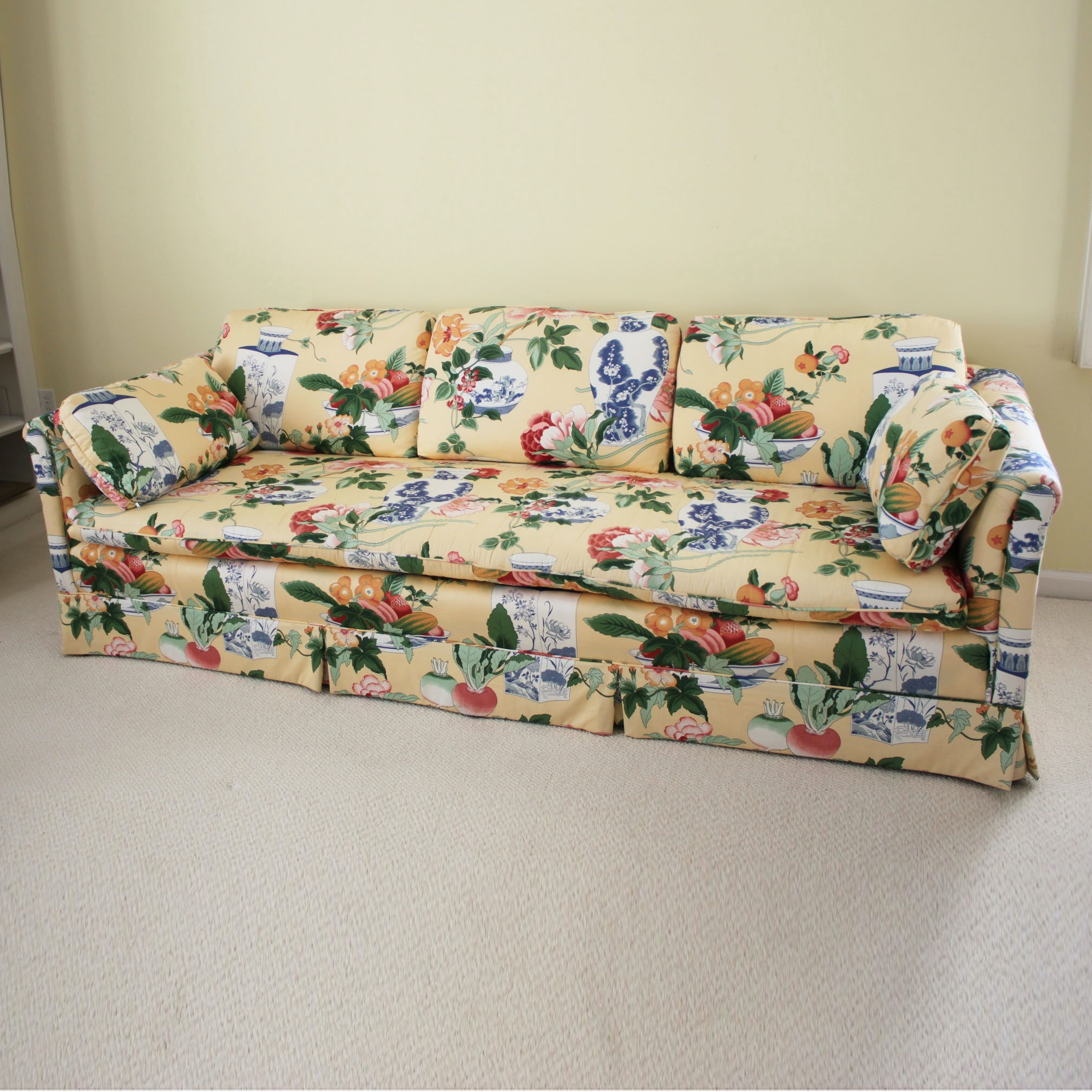 Chinoiserie Upholstered Sofa