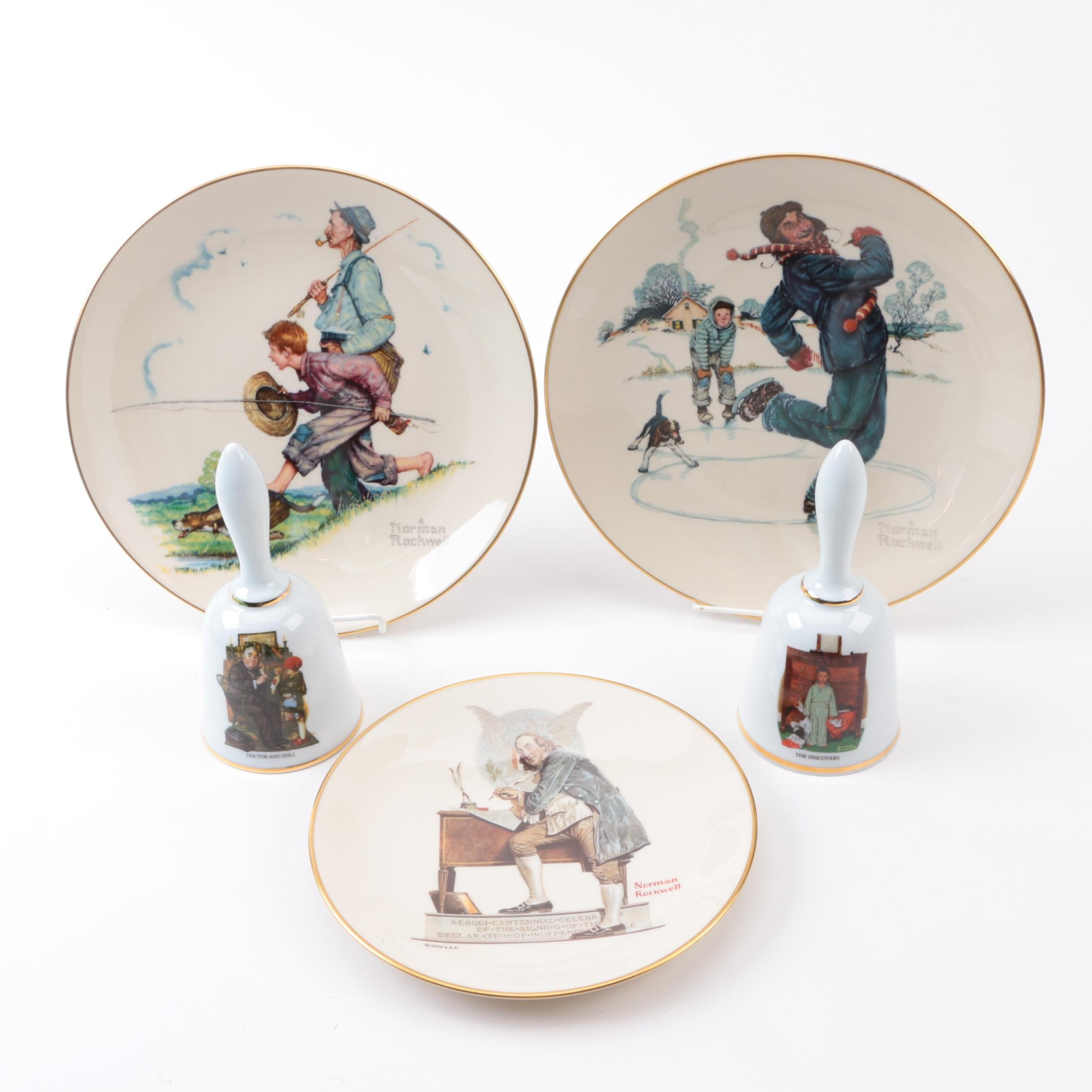 Danbury Mint and Gorham Norman Rockwell Collectibles