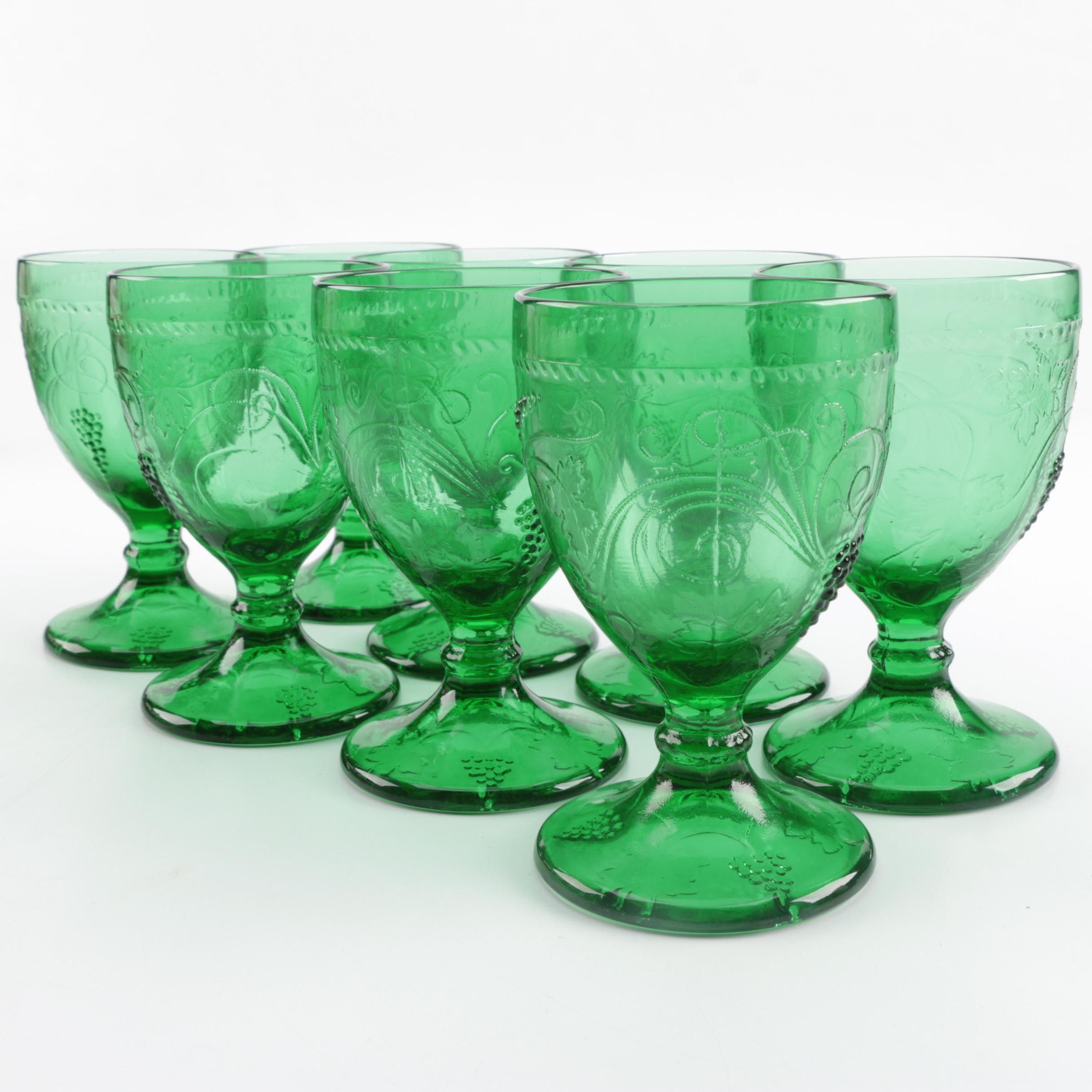 Green Glass Goblets