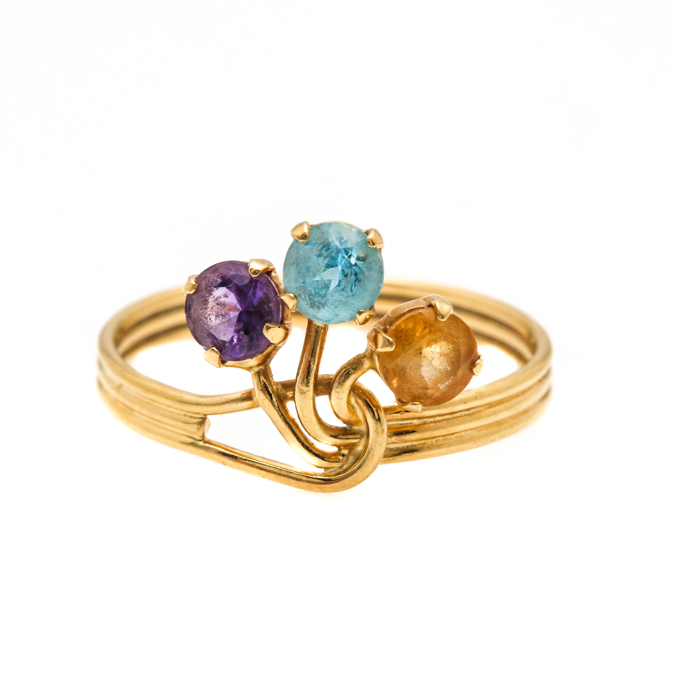 18K Yellow Gold Gemstone Ring