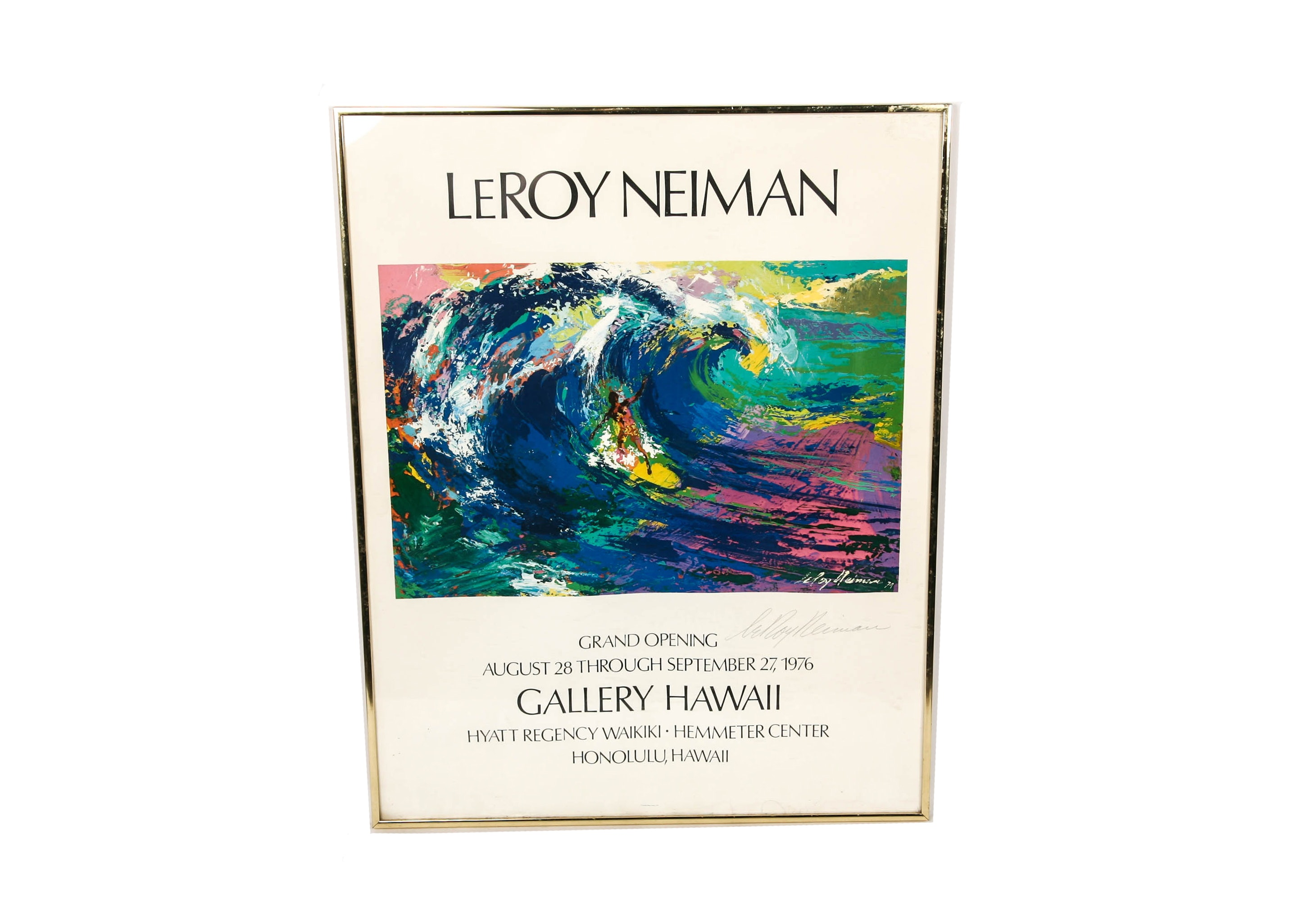 1976 Signed LeRoy Neiman Art Exhibition Poster
