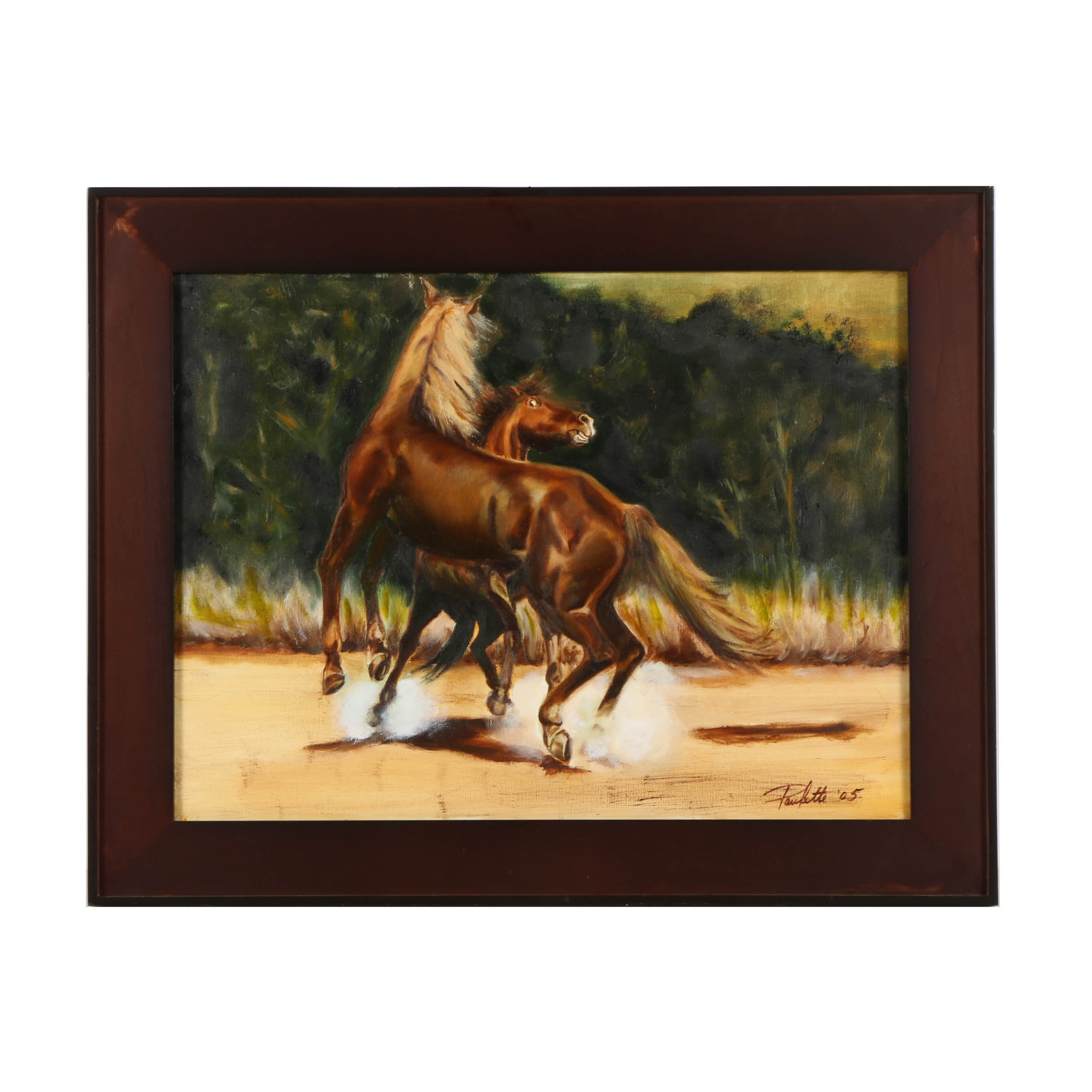 Paulette Oil Painting on Canvas of Horses