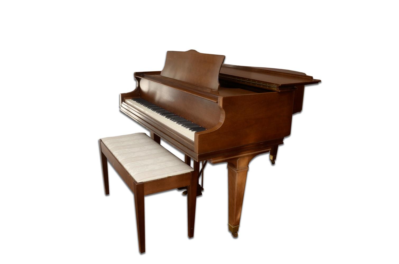 Chickering Walnut Baby Grand Piano