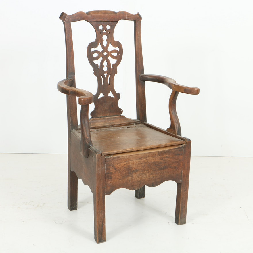 Antique George III Mahogany Commode Chair, Circa Late 18th to Early 19th  Century ... - Antique George III Mahogany Commode Chair, Circa Late 18th To Early