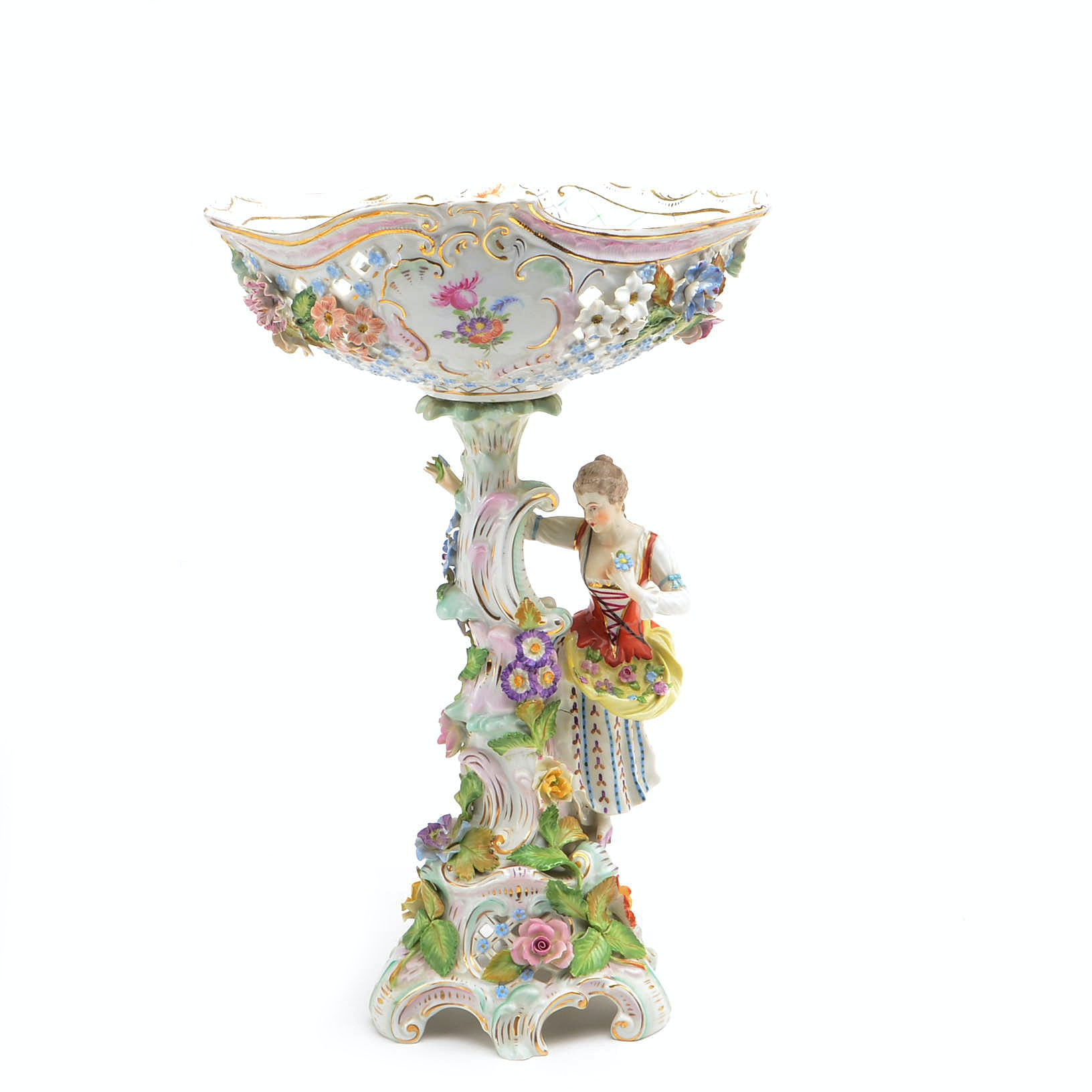Antique Dresden Porcelain Centerpiece