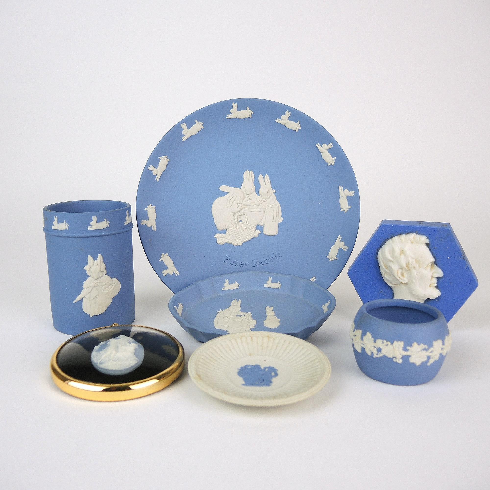 Wedgwood Blue Jasperware Pieces