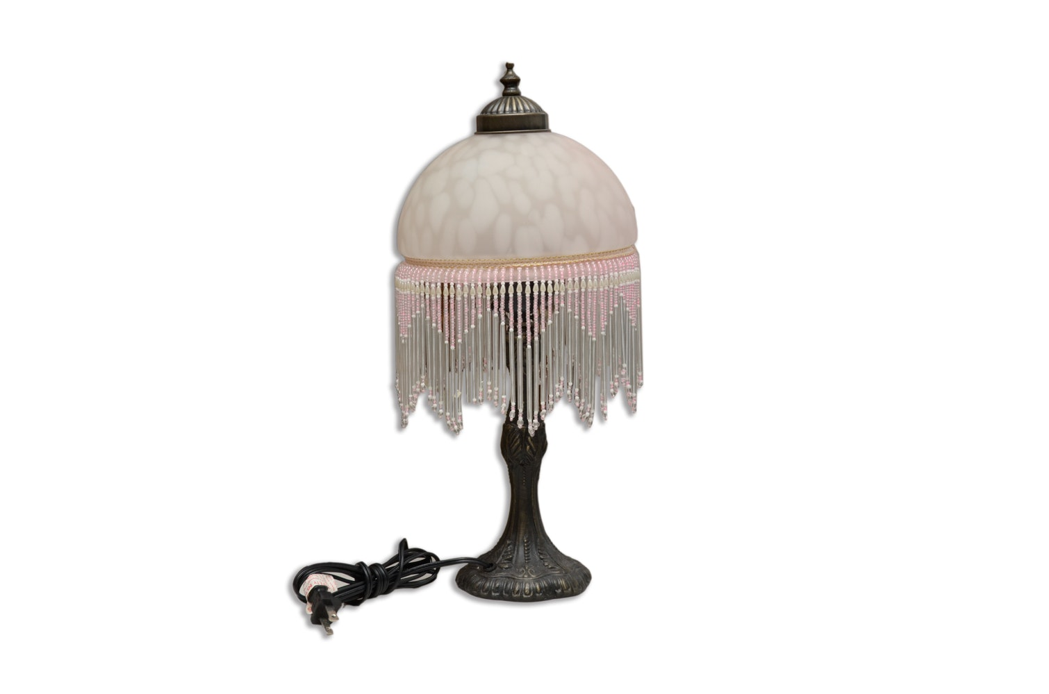 Victorian Style Bronze Tone Lamp and Shade