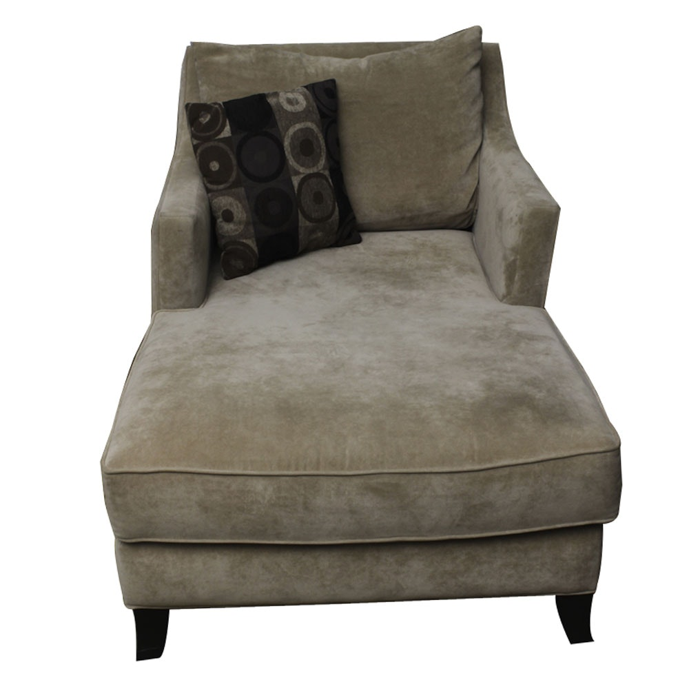 Upholstered Chaise Lounge Chair