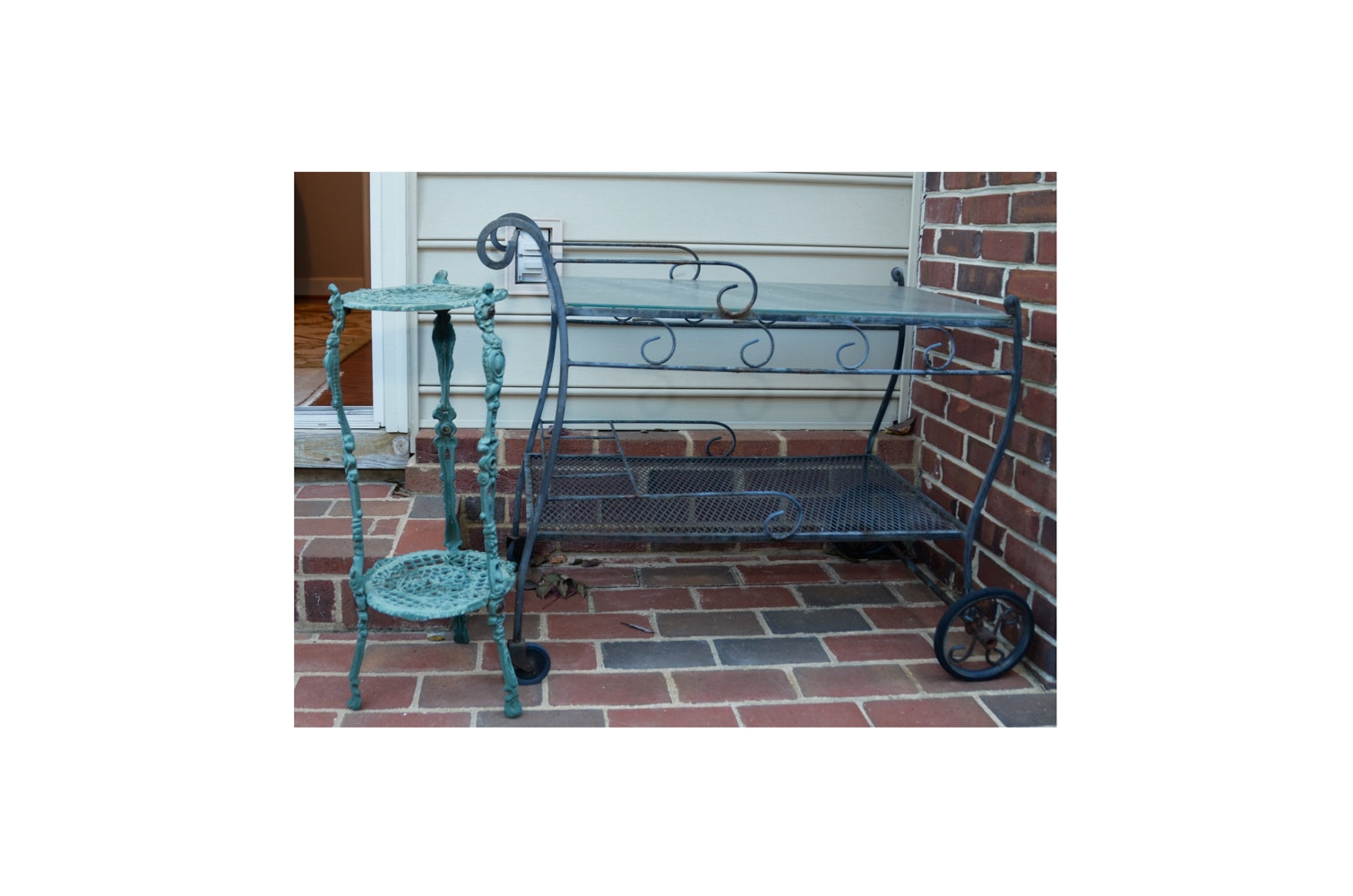 Patio Bar Cart and Plant Stand