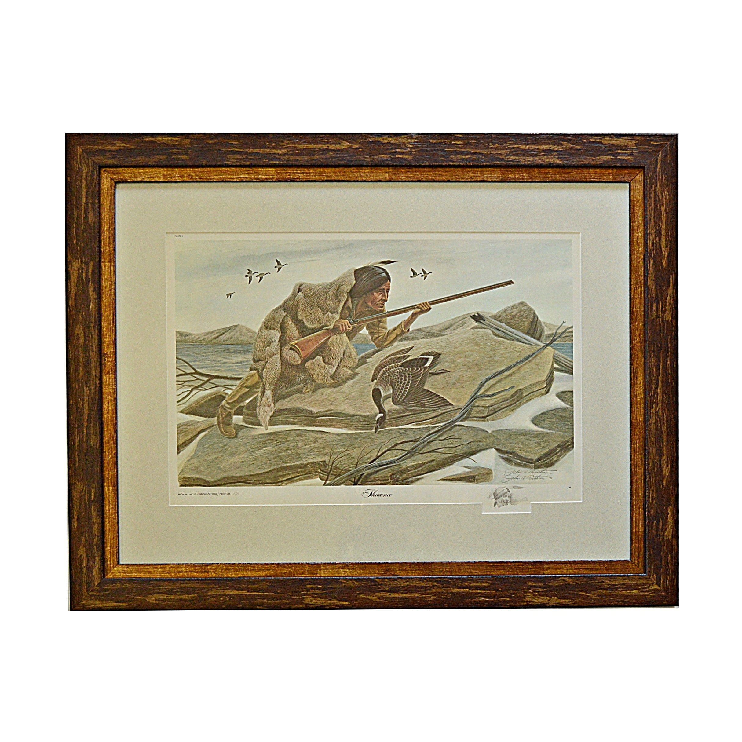 "John Ruthven Signed Limited Edition Offset Lithograph with Remarque ""Shawnee"""