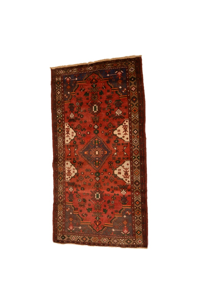 Hand-Knotted Persian Shiraz Area Rug