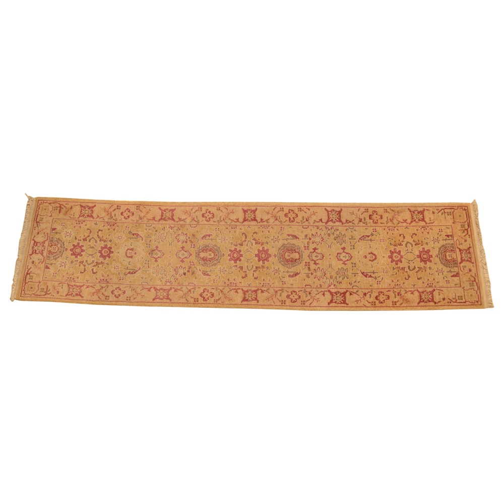 Hand-Knotted Pakistani Carpet Runner