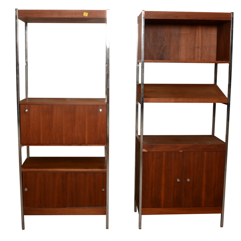 Danish Modern Style Teak Veneer Storage Shelves