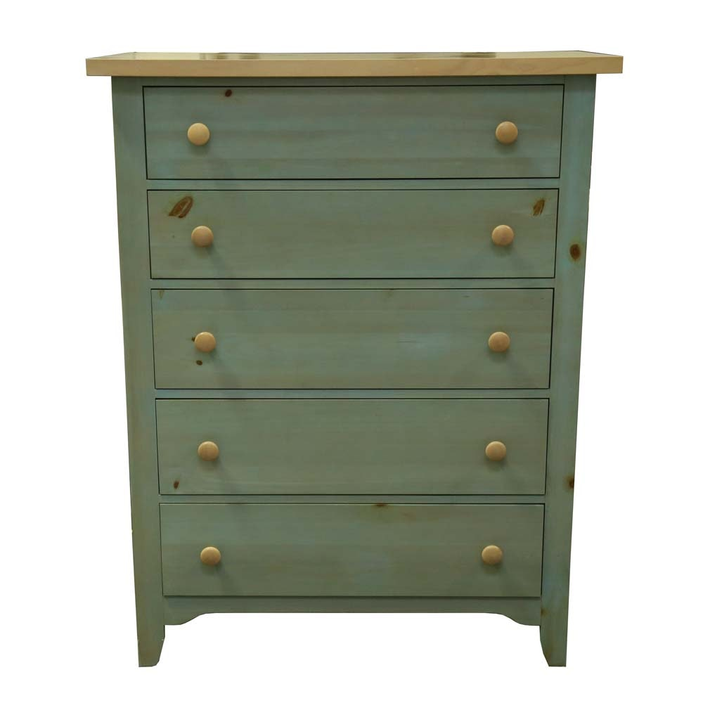 Painted Pine Chest of Drawers by Broyhill