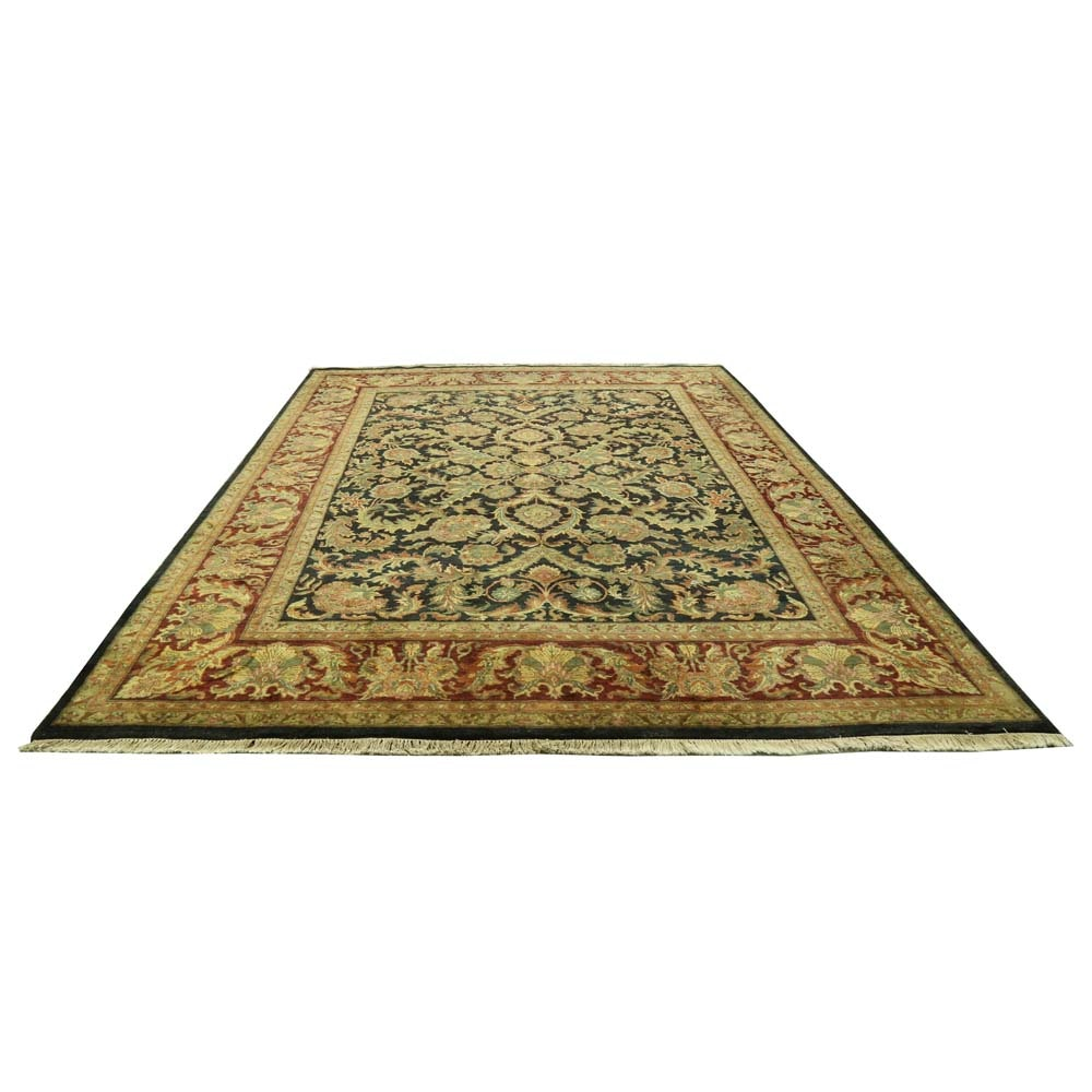 Large Hand-Knotted Indian Agra Area Rug
