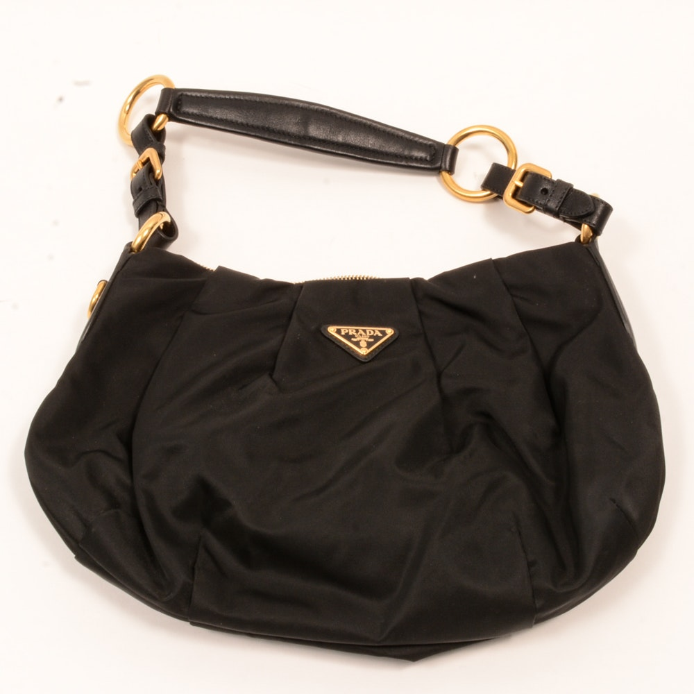 Prada Black Nylon Handbag