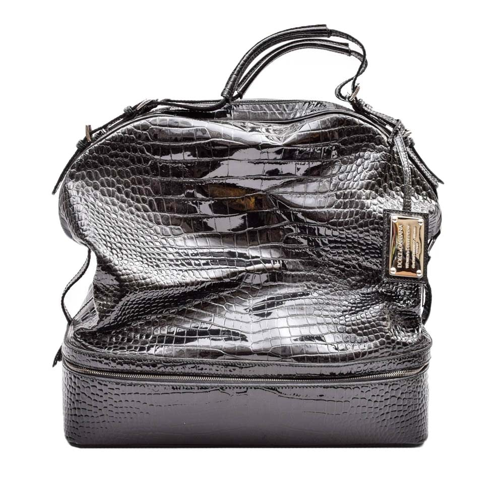 Dolce & Gabbana Patent Leather Weekend Bag
