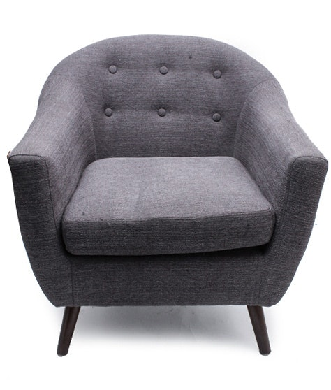 Scandinavian Modern Grey Club Chair by Luxo Kouvola