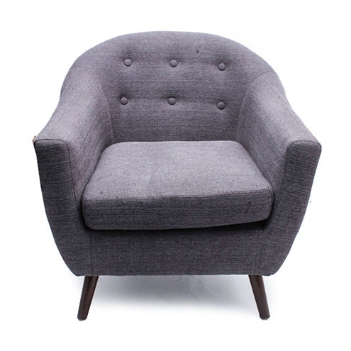 Scandinavian Modern Gray Club Chair by Luxo Kouvola