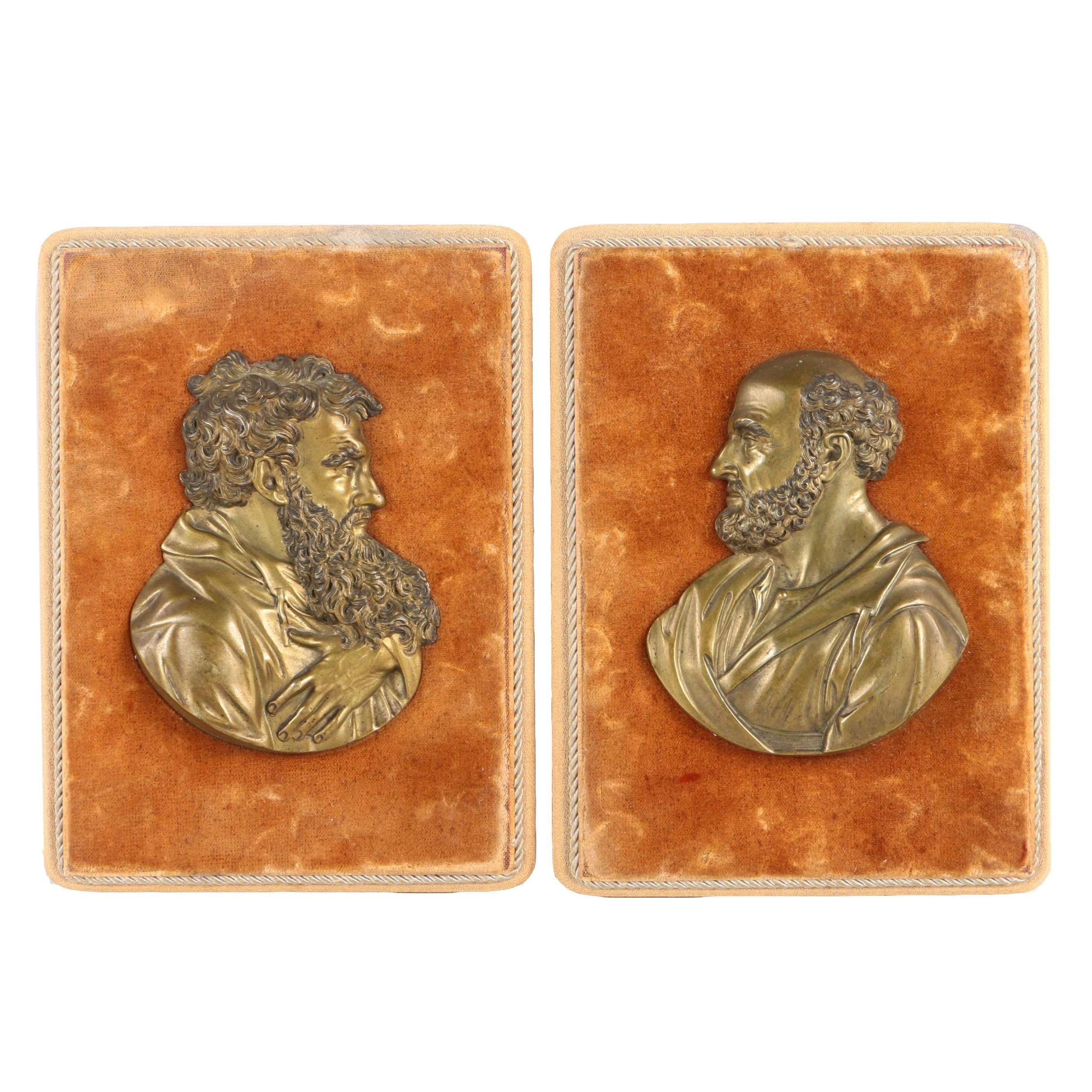 Metal Relief Portraits of Men