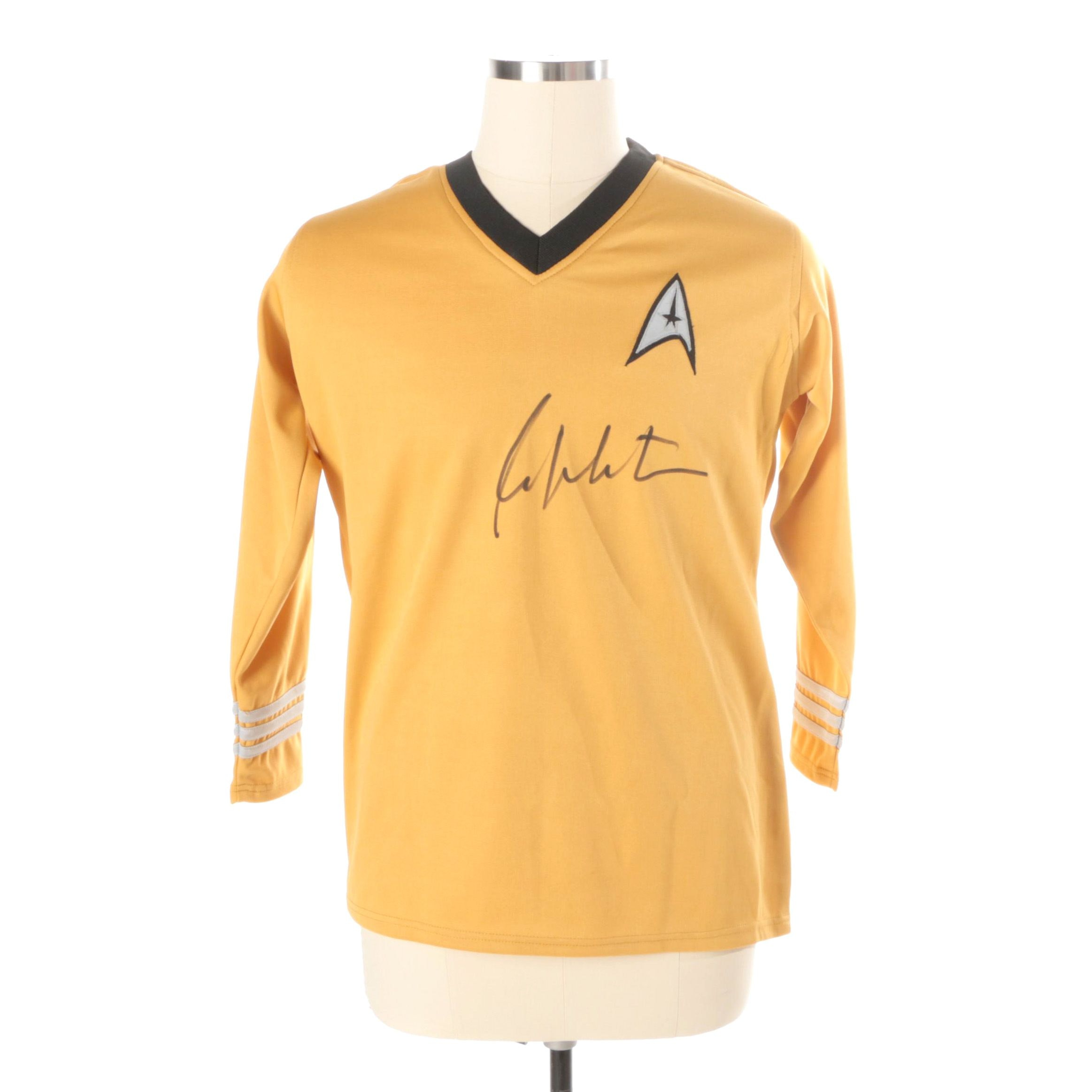 William Shatner Autographed Star Trek Shirt JSA COA