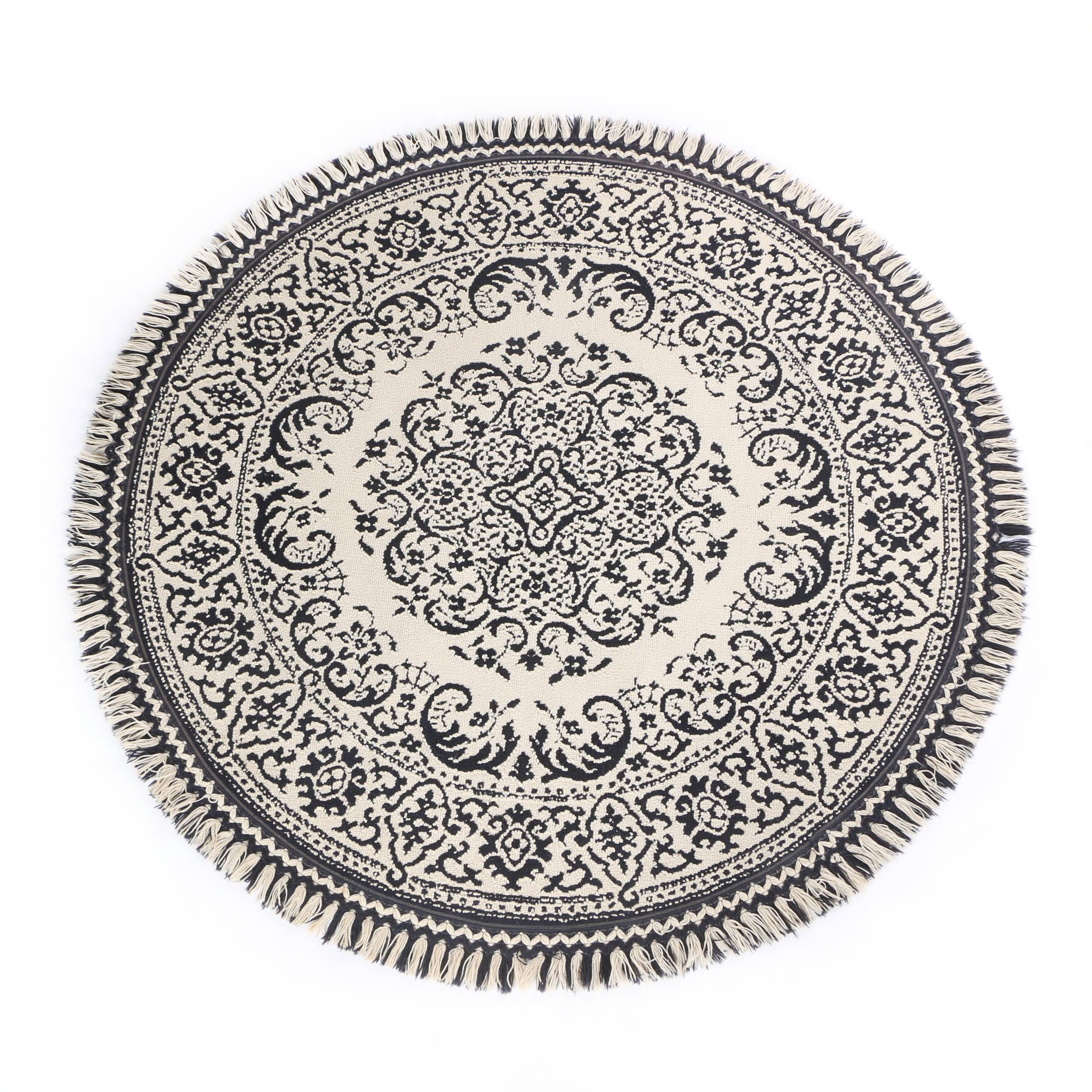 "Power-Loomed Karastan ""Porteau"" Wool Round Area Rug"