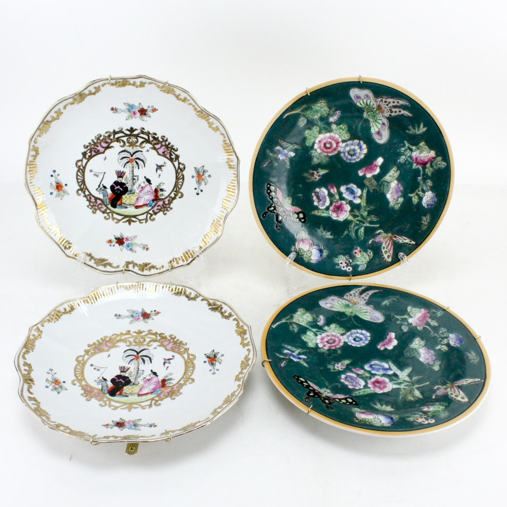 Decorative Chinese Hand Painted Plates