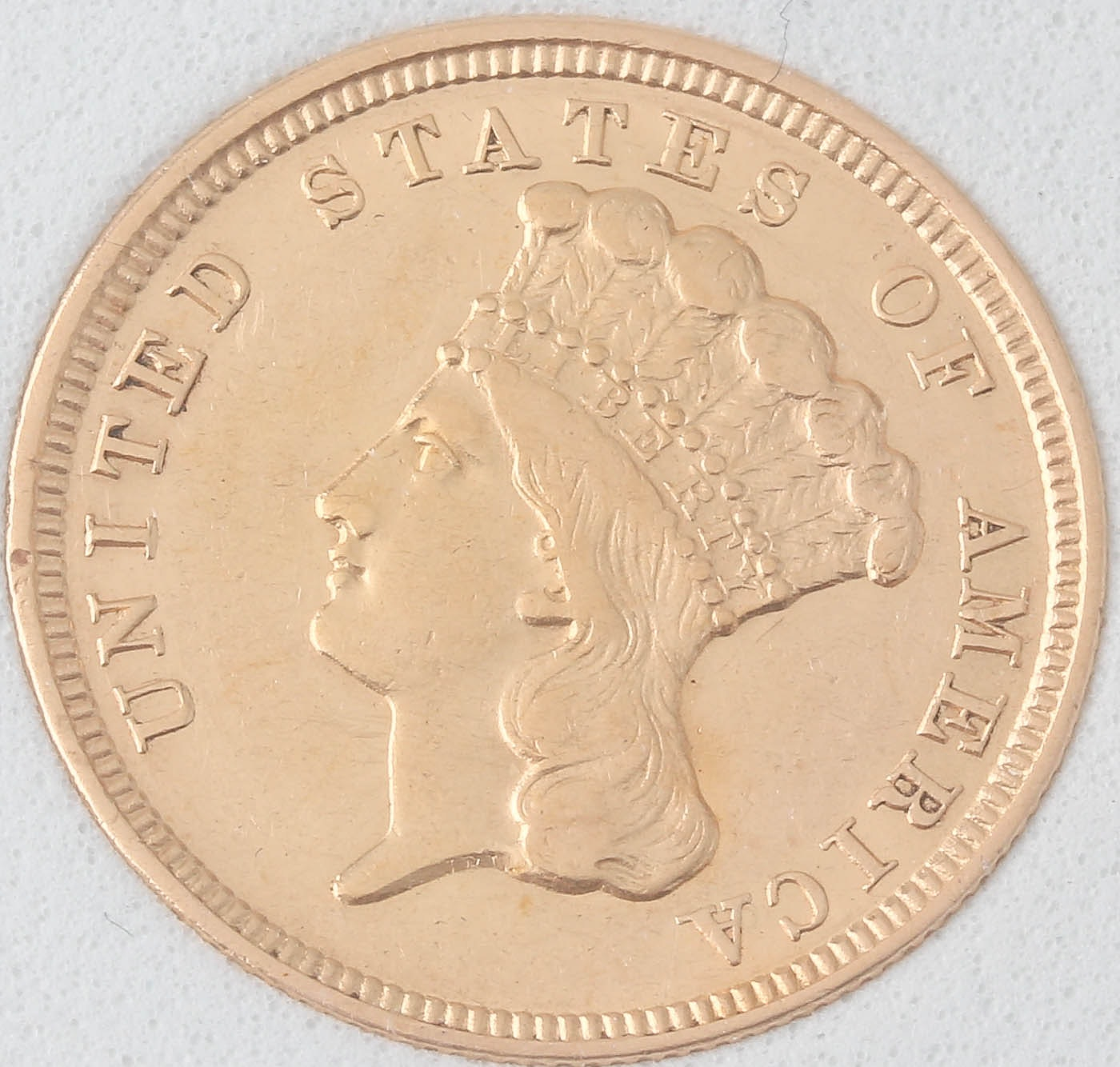 1854 Indian Head Princess $3 Gold Coin