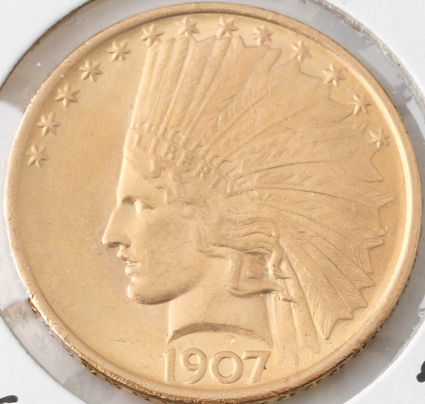 1907 Indian Head $10 Gold Coin
